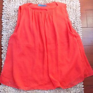Bright Sleeveless Blouse